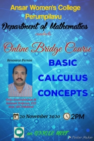 Online Bridge Course for first semester UG students
