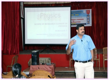SCOPE OF RESEARCH CAREER IN PHYSICS 2018