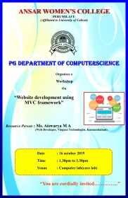 WORKSHOP ON WEBSITE DEVELOPMENT