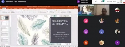 National Webinar on Disquisition on Survival Literature