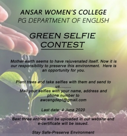 Green Selfie Contest# Environment Day Observation