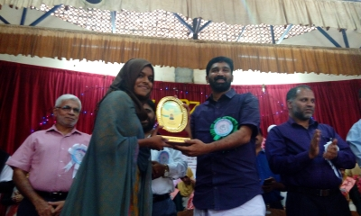 Honoring Ceremony of our University Topper Fahisa P M